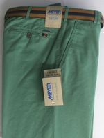 Green Cotton Blend Chino by Meyer - Style Rio 1-3120/24